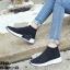 รองเท้าผ้าใบสีดำ ST013-BLK thumbnail 1