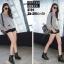 รองเท้าผ้าใบสีดำ ST01-BLK thumbnail 5