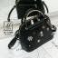 กระเป๋าสะพายกระเป๋าถือ แฟชั่นนำเข้าสไตล์งานปัก AX-12302-BLK (สีดำ)