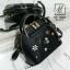 กระเป๋าสะพายกระเป๋าถือ แฟชั่นนำเข้าสไตล์งานปัก AX-12302-BLK (สีดำ) thumbnail 2