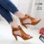 รองเท้าส้นสูงสีน้ำตาล ซิปหลัง LB-350-209-น้ำตาล thumbnail 2