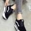 รองเท้าผ้าใบสีดำ งานนำเข้า100% ST921-BLK thumbnail 1