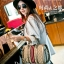 กระเป๋าถือทรงหมอนคาด แถบสี3Tone EMM-0001-GLD (สีทอง) thumbnail 3