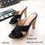 รองเท้าแตะส้นสูงแบบสวมไขว้ 3006-5-ดำ (สีดำ) thumbnail 4