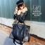 กระเป๋าสะพายกระเป๋าถือ แฟชั่นงานนำเข้าใบใหญ่แต่งหมุดสวยเก๋ส์ MB18-01209-BLK [สีดำ] thumbnail 3