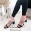 รองเท้าส้นสูงแบบสวม พลาสติกหน้าใส HT11-ดำ (สีดำ) thumbnail 2
