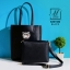 กระเป๋าสะพายกระเป๋าถือ แฟชั่นนำเข้าทรง shopping bag B201584-BLK (สีดำ)