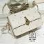 กระเป๋าสะพายกระเป๋าถือ แฟชั่นนำเข้าแบรนด์ axixi แต่งมุก AX-12461-CRM (สีครีม) thumbnail 2