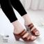 รองเท้าสุขภาพสีม่วง พื้นนุ่ม LB-10183-ม่วง thumbnail 1
