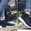 รองเท้าผ้าใบสีดำ ST013-BLK thumbnail 3