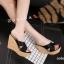 พร้อมส่ง รองเท้าส้นเตารีด สไตล์เกาหลี 17-2288-BLK [สีดำ] thumbnail 2