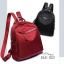 กระเป๋าเป้ผู้หญิงผ้าไนล่อนอย่างดี กันน้ำได้ BAG-052-แดง (สีแดง) thumbnail 2