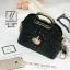 กระเป๋าแฟชั่นนำเข้าดีไซน์เก๋ส์ AX-12299-BLK (สีดำ) thumbnail 1