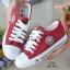 รองเท้าผ้าใบเสริมส้นสุดชิคสีแดง 9107-RED thumbnail 1