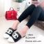 รองเท้าแตะวัสดุหนังนิ่มทรงสลิปเปอร์ KK8822-ดำ (สีดำ) thumbnail 4