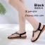 รองเท้าแตะรัดส้นสีดำ พื้นนิ่ม B2626-8-ดำ thumbnail 1