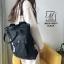 กระเป๋าสะพายเป้ เป้แฟชั่นงานนำเข้าสไตล์เกาหลี MB18-00501-BLK (สีดำ) thumbnail 2