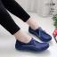 รองเท้าผ้าใบเกาหลีสีน้ำเงิน soft&comfort แต่งซิป พื้นถอดได้(ผ้าใบยืด) 8262-น้ำเงิน thumbnail 1