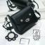 กระเป๋าสะพายกระเป๋าถือ แฟชั่นนำเข้าสไตล์เกาหลีสุดน่ารัก AX-12399-BLK (สีดำ) thumbnail 2