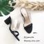 รองเท้าส้นสูงแบบสวม พลาสติกหน้าใส HT11-ดำ (สีดำ) thumbnail 4