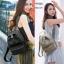 กระเป๋าเป้ผู้หญิงผ้าไนล่อนหนา ดีไซน์น่ารัก BAG-076-ดำ (สีดำ) thumbnail 5
