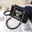 กระเป๋าแฟชั่นงานนำเข้าทรงยอดฮิตปักเลื่อมวิ๊บวับ MB18-01604-BLK (สีดำ) thumbnail 1