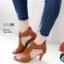 รองเท้าส้นสูงสีน้ำตาล ซิปหลัง LB-350-209-น้ำตาล thumbnail 1