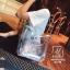 กระเป๋าแฟชั่นงานนำเข้าแบบวัสดุพลาสติกใสแต่งลาย MB18-02502-SIL (สีเงิน) thumbnail 3