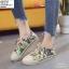 พร้อมส่ง รองเท้าใบลายกราฟฟิก ST203-GRN [สีเขียว] thumbnail 2