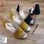 พร้อมส่ง รองเท้าส้นสูงหุ้มส้นเปิดหน้า ST1619-YEL [สีเหลือง] thumbnail 4