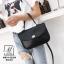 กระเป๋าแฟชั่นงานนำเข้าหนังปั๊มลายจระเข้สุดหรู MB18-02304-BLK (สีดำ) thumbnail 5