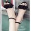 รองเท้าส้นเหลี่ยมรัดข้อ A-222-ดำ (สีดำ) thumbnail 3