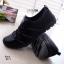 รองเท้าผ้าใบยางยืดสีดำ ผ้ายืดเงา เบาสบาย 8271-ดำ thumbnail 3