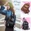 แบบมาใหม่ ทรงสุดฮิต กระเป๋าเป้ผู้หญิงหนัง pu ดีไซน์สุดเก๋ BAG-062-ดำ (สีดำ) thumbnail 3