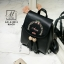กระเป๋าสะพายเป้กระเป๋าถือ เป้แฟชั่นนำเข้าดีไซน์สุดน่ารัก AXI-A12315-BLK (สีดำ) thumbnail 2