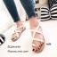 รองเท้าแตะลำลองหนังนิ่มแบบสวมโป้ง พื้นกระสอบ A608-ครีม (สีครีม) thumbnail 1