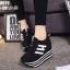 รองเท้าผ้าใบสีดำ ST8029-BLK thumbnail 1