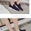 พร้อมส่ง รองเท้าผ้าใบยางยืด คาดบน G-1284-BLK [สีดำ] thumbnail 4