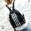 แบบมาใหม่ ทรงสุดฮิต กระเป๋าเป้ผู้หญิงผ้าไนล่อนลายสก๊อตคลาสสิค 868-ดำ (สีดำ) thumbnail 3