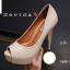 พร้อมส่ง รองเท้าคัชชูเปิดหน้า 17-2318-CRM [สีครีม] thumbnail 3