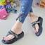 รองเท้าแตะพื้นโซฟางานห่อส้นสีดำ 999-13-ดำ thumbnail 2