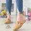 รองเท้าส้นเตี้ยสีแทน สลิปออนเปิดส้น 321-998-แทน thumbnail 1