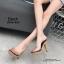 รองเท้าส้นสูงเปิดส้นสีดำ ส้นไม้ หน้าใส LB-3006-92A-BLK thumbnail 2