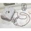 กระเป๋าสะพายกระเป๋าถือ แฟชั่นนำเข้าสไตล์เกาหลี AX-12401-SIL [สีเงิน] thumbnail 5