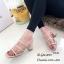 รองเท้าส้นสูงวัสดุหนังนิ่มสีครีม ดีไซน์งานเส้น 998-02-ครีม thumbnail 3