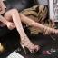 พร้อมส่ง รองเท้าส้นสูง วัสดุหนังแววเงา 17-1283-PKG [สีนาค] thumbnail 2