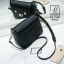 กระเป๋าสะพายกระเป๋าถือ แฟชั่นนำเข้าสไตล์เกาหลีสุดน่ารัก AX-12399-BLK (สีดำ) thumbnail 5