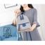 กระเป๋าสะพายเป้กระเป๋าถือ เป้แฟชั่นนำเข้าดีไซน์สุดน่ารัก AX-A12398-GRY [สีเทา] thumbnail 3