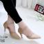 รองเท้าส้นสูงสีครีม ฉลุลาย รัดข้อ LB-10200-ครีม thumbnail 2