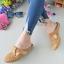 รองเท้าส้นเตี้ยสีแทน สลิปออนเปิดส้น 321-998-แทน thumbnail 2